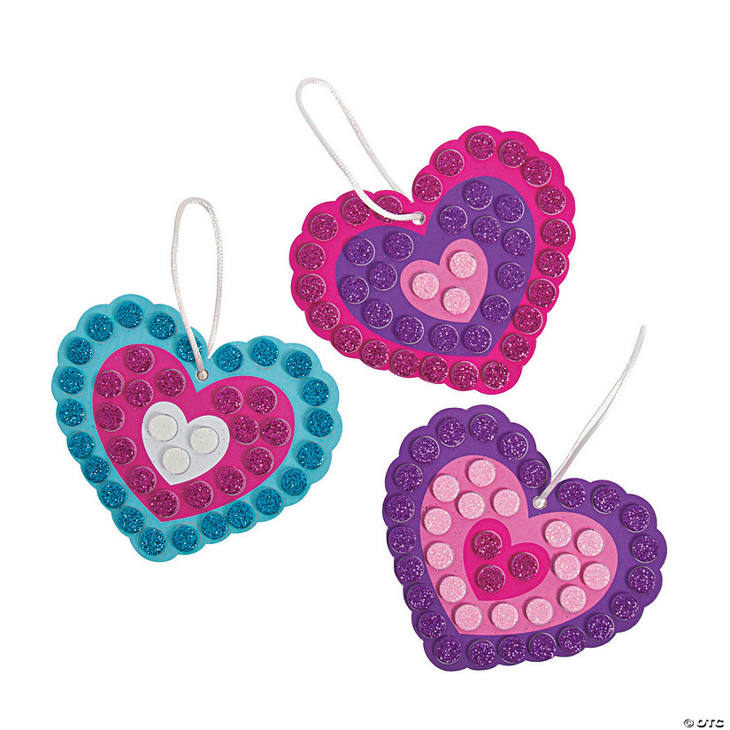 Glitter Mosaic Heart Ornament Craft Kit