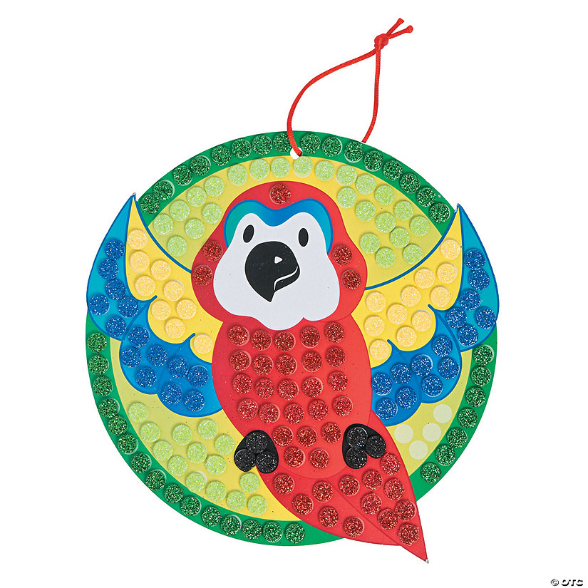 Glitter Mosaic Tropical Parrot Craft Kit Audio Thumbnail