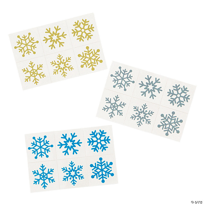 Glitter Snowflake Temporary Tattoos Audio Thumbnail
