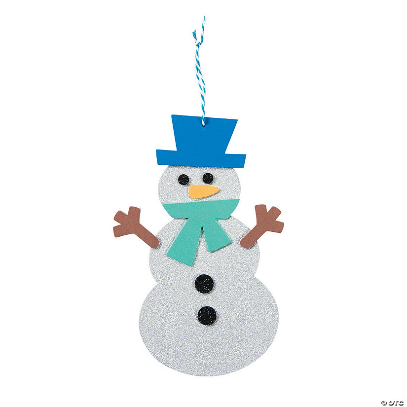 Glitter Snowman Shape Craft Kit Audio Thumbnail