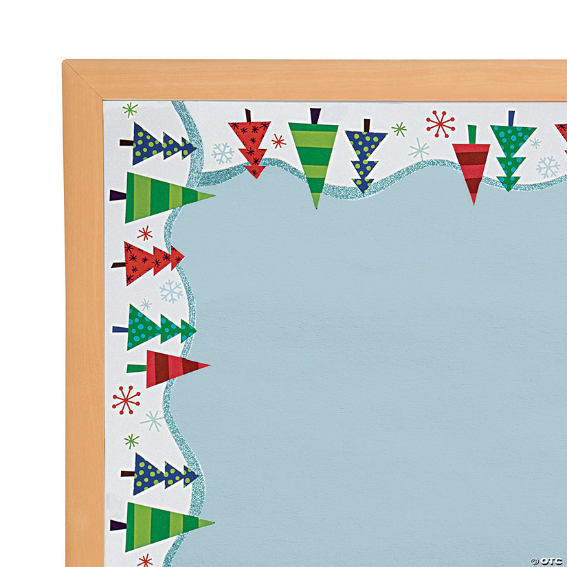 Glitter Winter Trees Bulletin Board Borders Audio Thumbnail