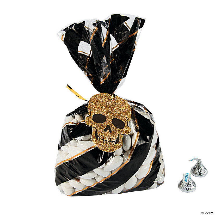 Glitz-O-Ween Cellophane Bags with Tags