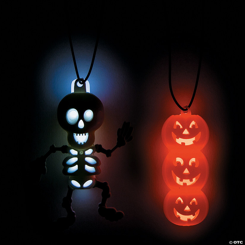 Glow Halloween Character Necklaces Image Thumbnail