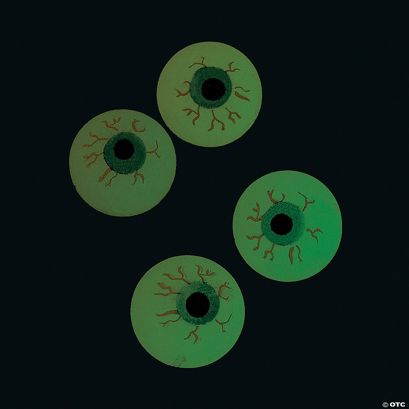 Glow-in-the-Dark Eyeballs Bouncy Balls