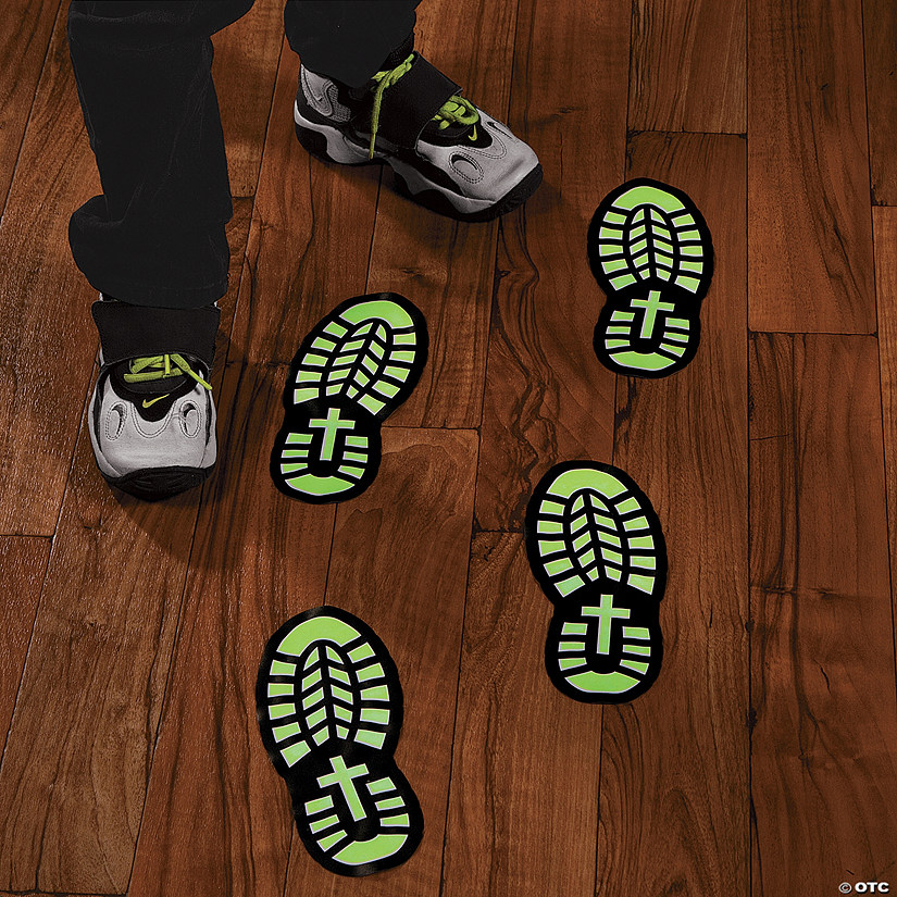 Glow-in-the-Dark Footprint Floor Decals Audio Thumbnail