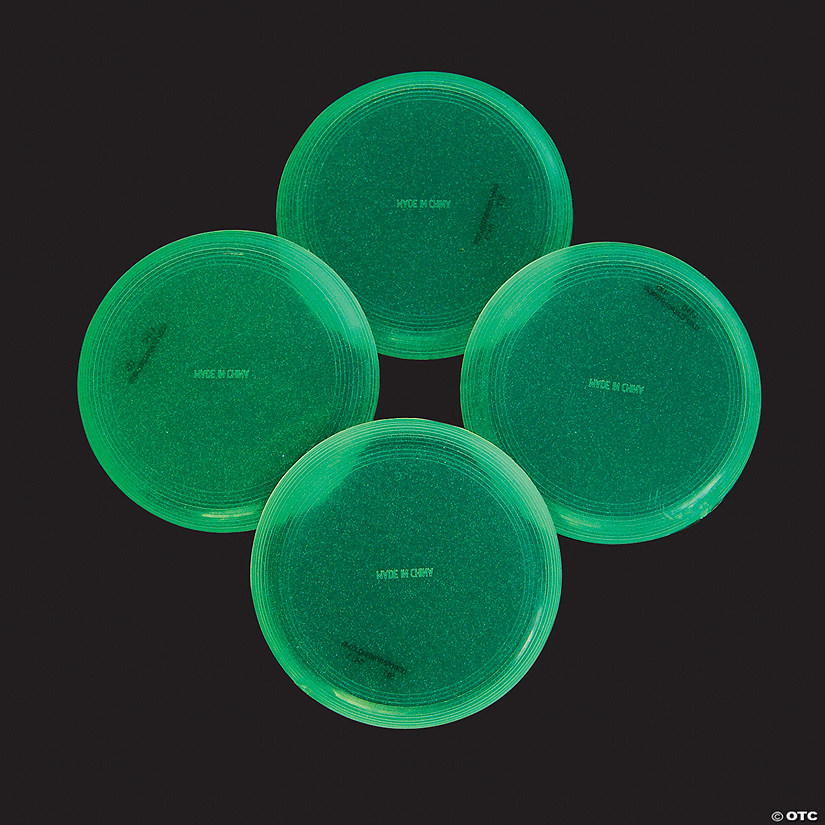 Glow-in-the-Dark Mini Flying Discs