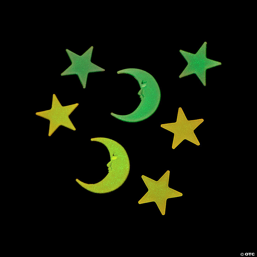Glow-in-the-Dark Moons & Stars
