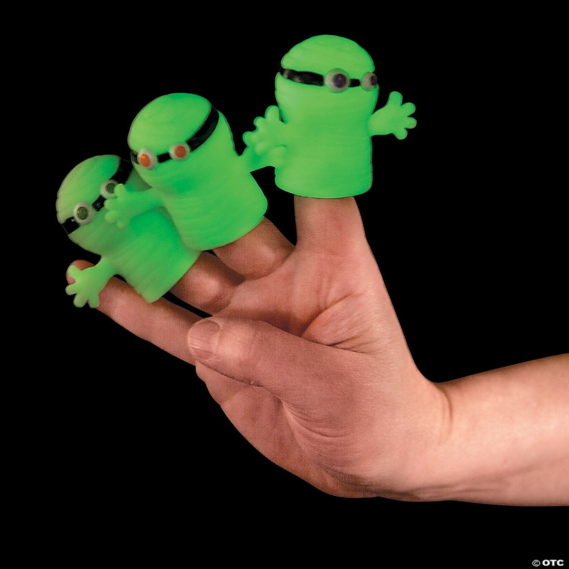 Glow-in-the-Dark Mummy Finger Puppets