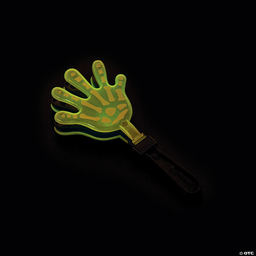 Glow-in-the-Dark Skeleton Hand Clappers Image Thumbnail