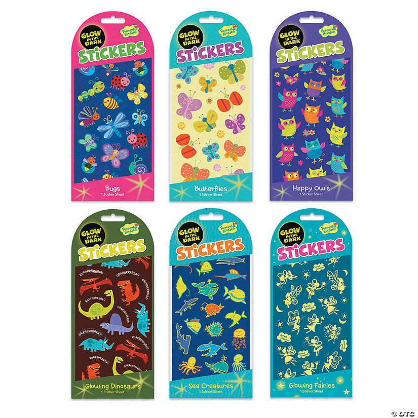 Glow-In-The-Dark Sticker Set Image Thumbnail