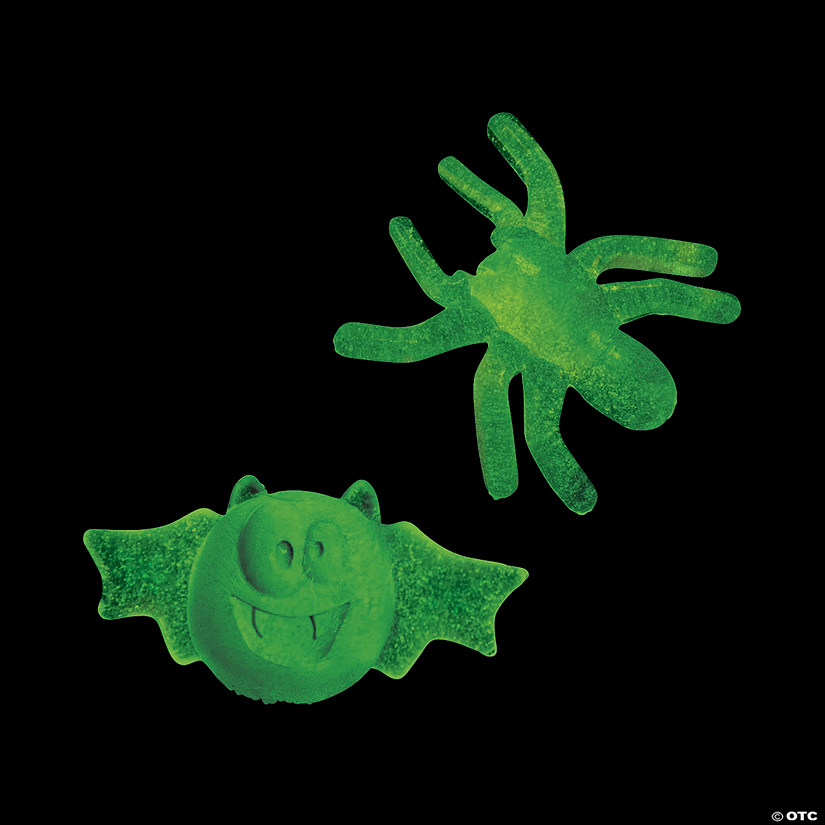 Glow-in-the-Dark Sticky Mini Spiders & Bats Audio Thumbnail