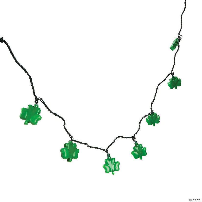 Glowing Shamrock String Lights Image Thumbnail