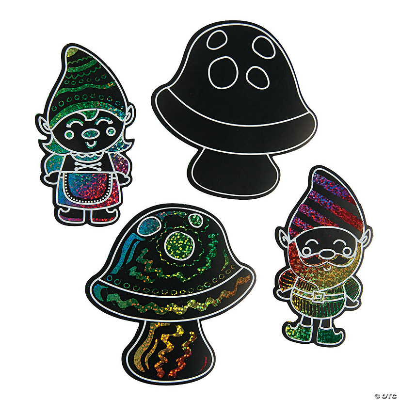 Gnome Magic Color Scratch Activities