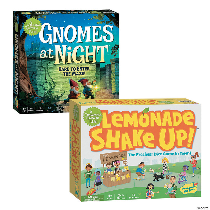 Gnomes at Night and Lemonade Shake Up: Set of 2