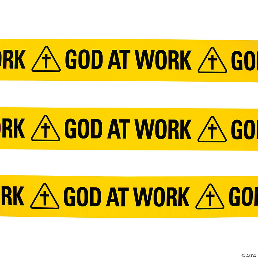 God at Work Construction Zone Plastic Streamer Image Thumbnail