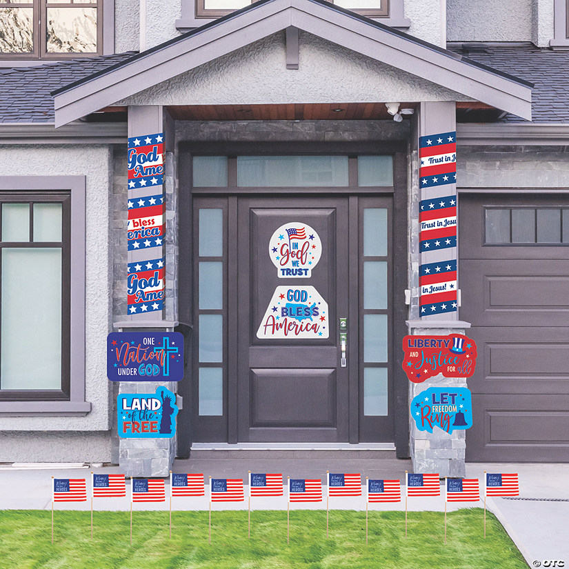 God Bless America Porch Decorating Kit Image Thumbnail