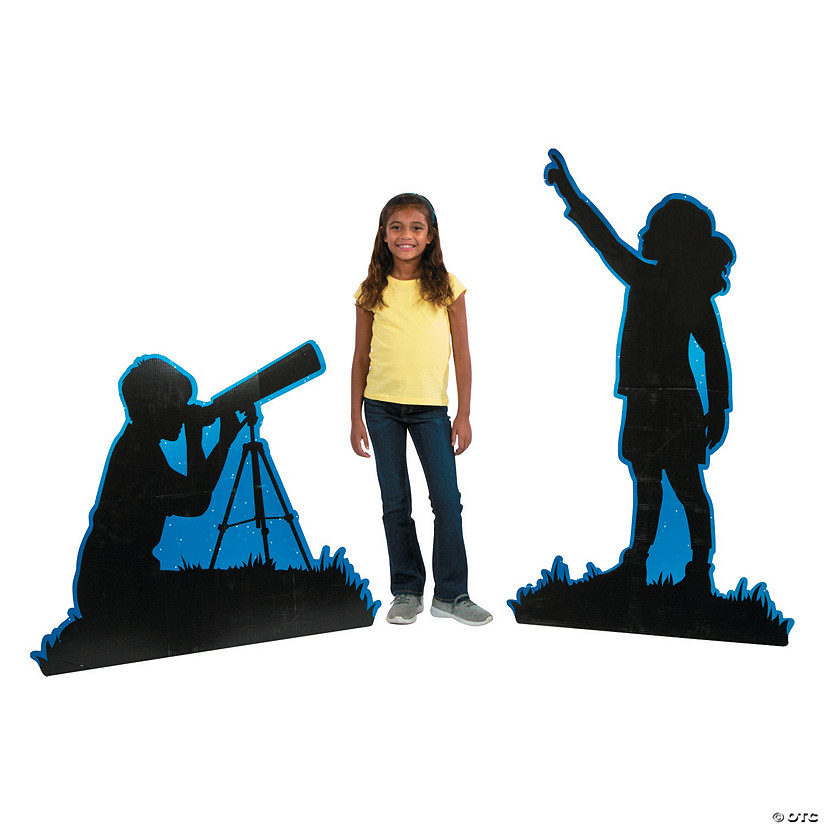 God's Galaxy VBS Silhouette Kids Stand-Ups