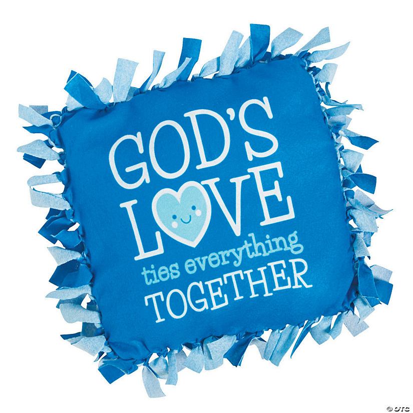God's Love Tied Fleece Pillow Craft Kit