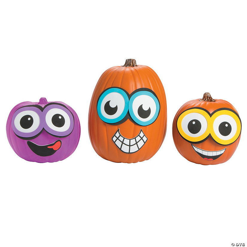 Goggle Pumpkin Decorating Craft Kit