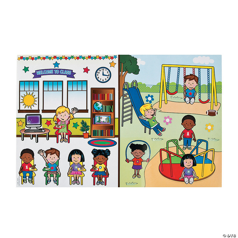 Going to School Giant Sticker Scenes Audio Thumbnail