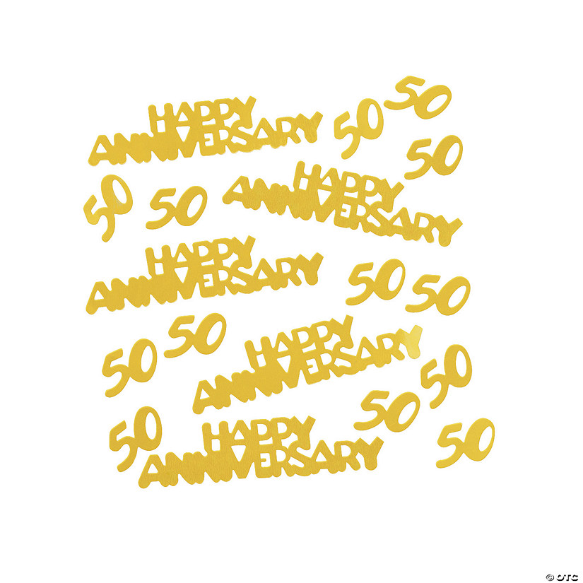 Gold 50th Anniversary Confetti