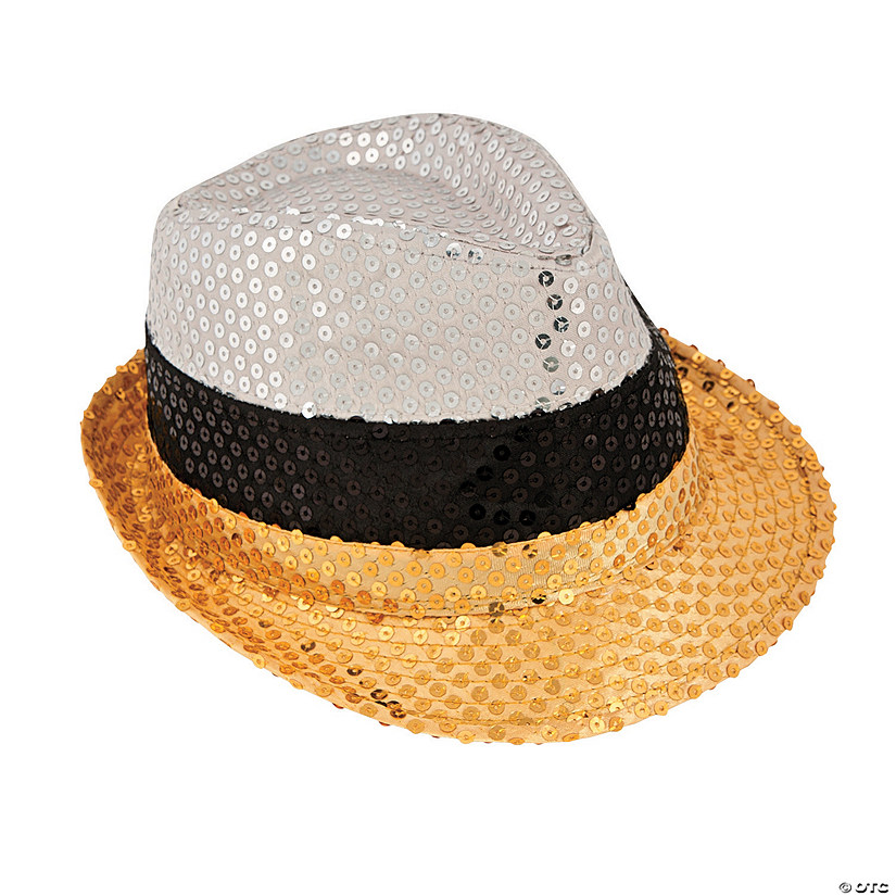 Gold   Silver Sequin Fedora Hat - Discontinued e830723f018