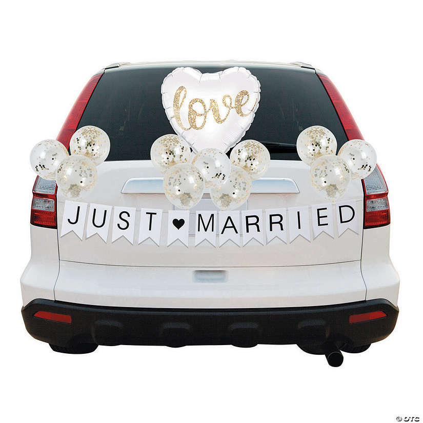 Gold & White Balloon Wedding Car Parade Decorating Kit Audio Thumbnail