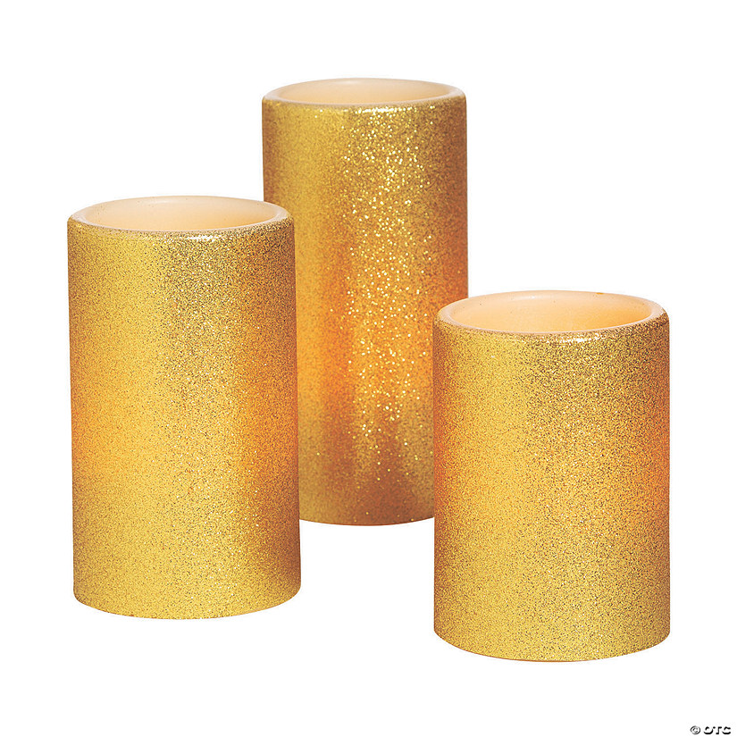 Gold Battery-Operated Candle Set Audio Thumbnail