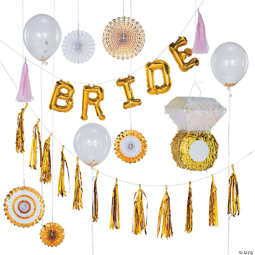 Gold Bridal Shower Hanging Décor Kit