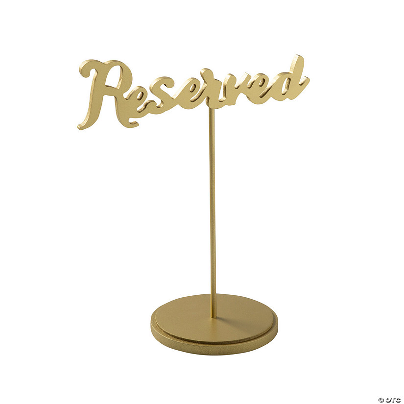 Gold Calligraphy Reserved Table Signs