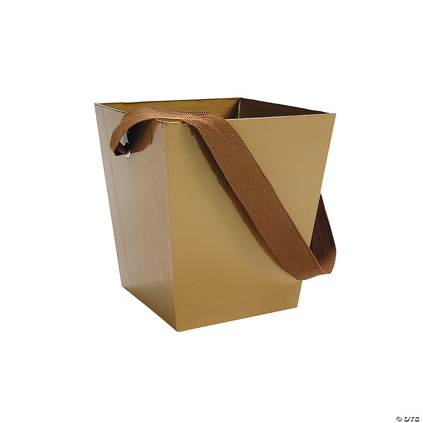 Gold Candy Buckets with Ribbon Handle Audio Thumbnail