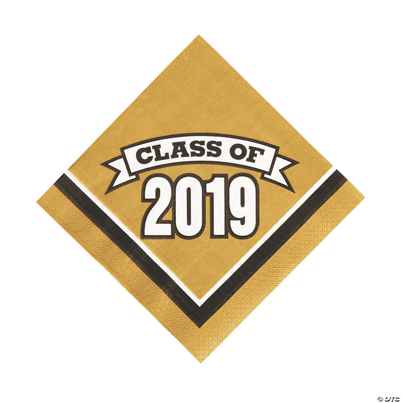 Gold Class of 2019 Luncheon Napkins Audio Thumbnail
