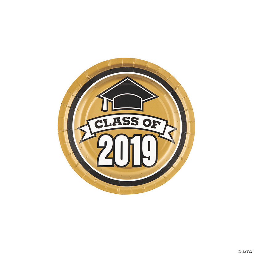 Gold Class of 2019 Paper Dessert Plates Audio Thumbnail
