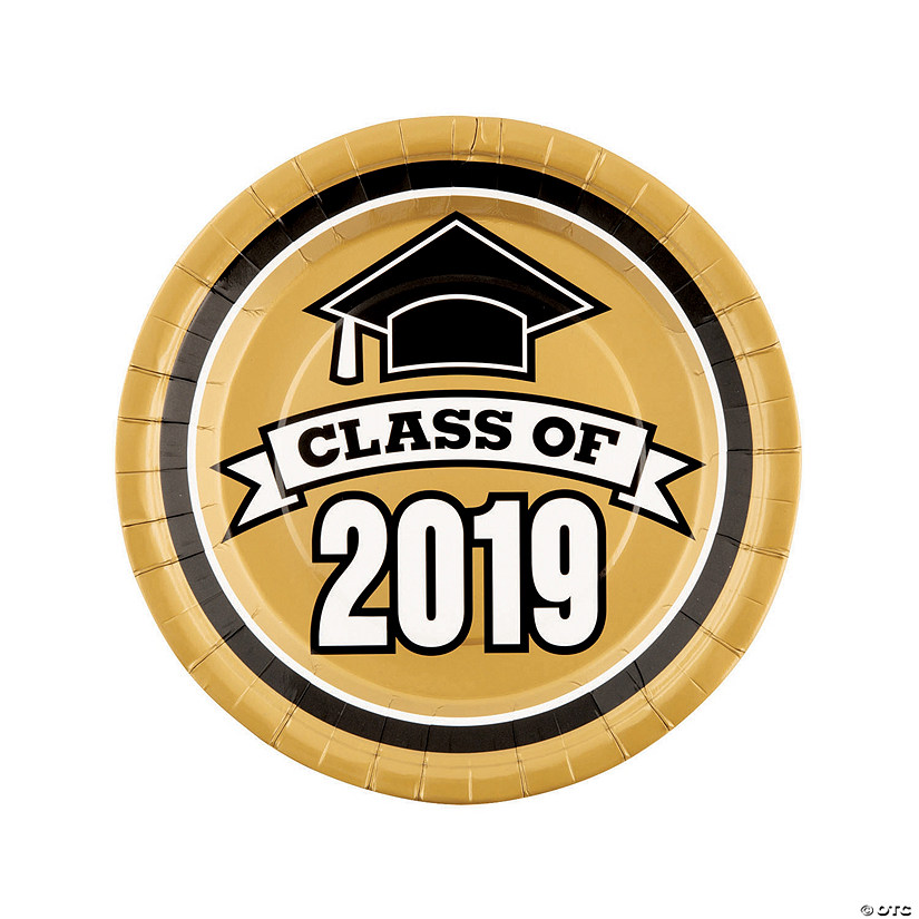 Gold Class of 2019 Paper Dinner Plates Audio Thumbnail
