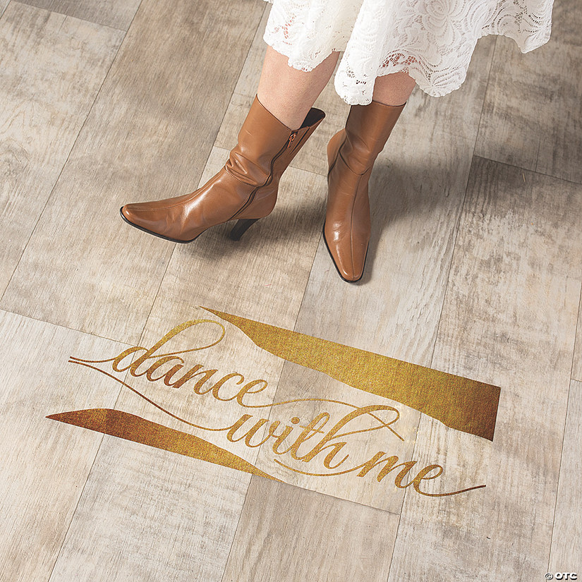 Gold Dance With Me Floor Cling Image Thumbnail
