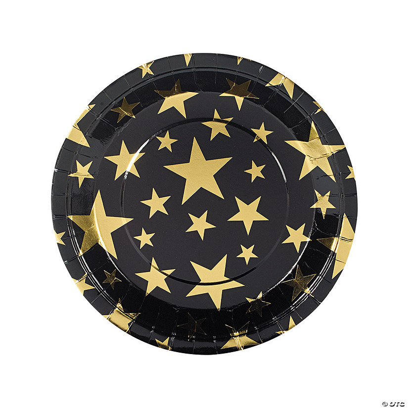Gold Foil Star Paper Dinner Plates Audio Thumbnail