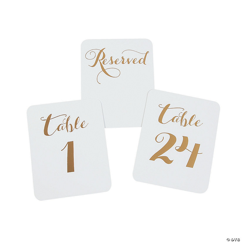 Gold Foil Table Numbers Audio Thumbnail