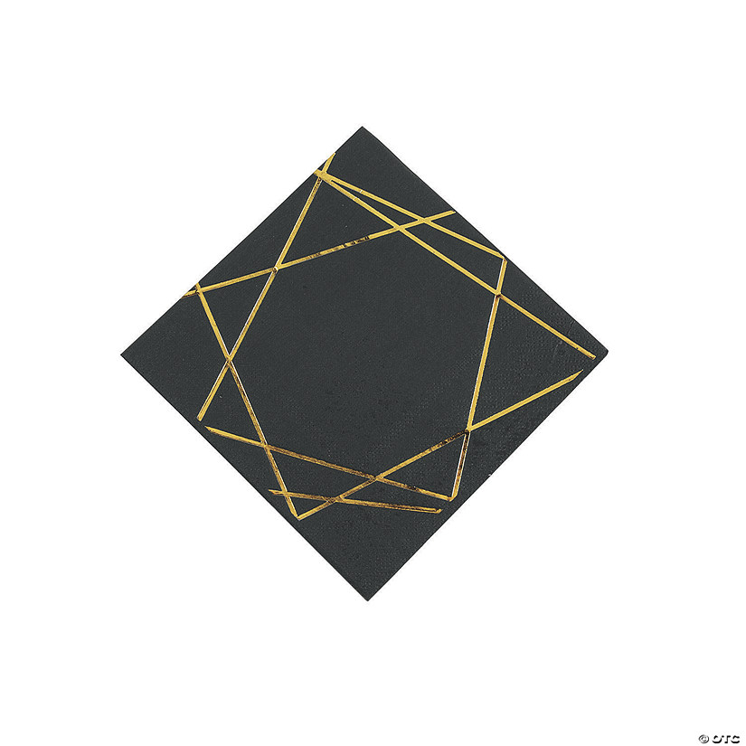 Gold Geometric Beverage Napkins Audio Thumbnail