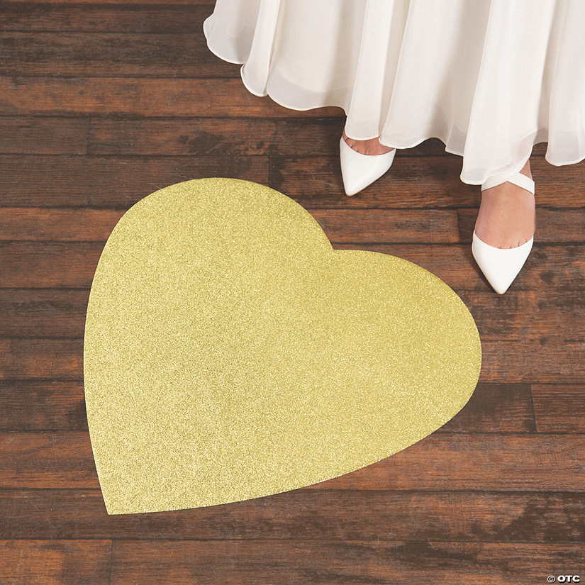 Gold Glitter Heart Floor Cling Audio Thumbnail