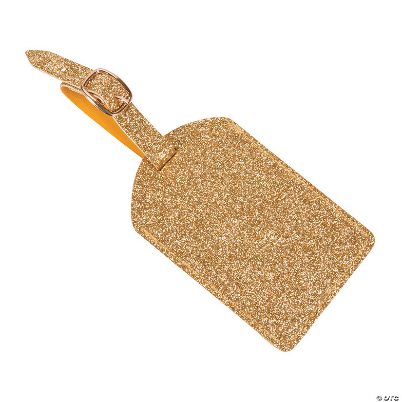Gold Glitter Luggage Tags