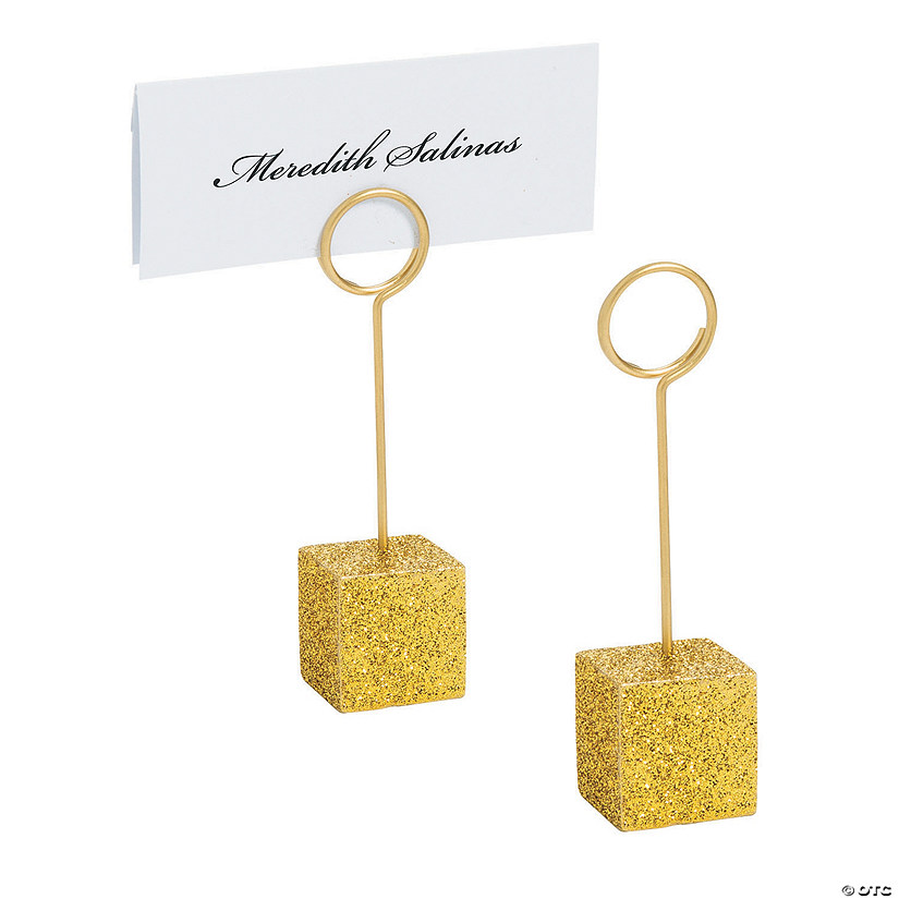 Gold Glitter Place Card Holders Audio Thumbnail