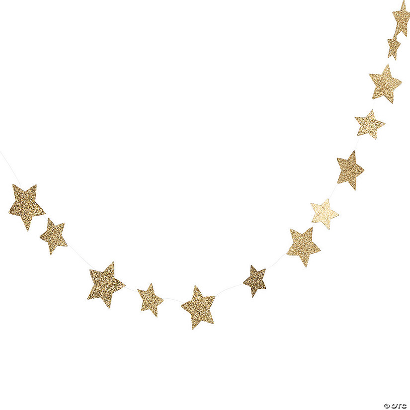 Gold Glitter Star Garland Audio Thumbnail