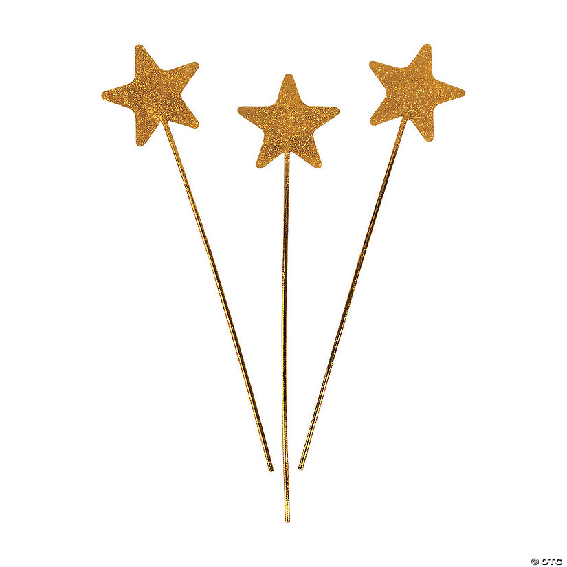 Gold Glittery Star Wands Image Thumbnail