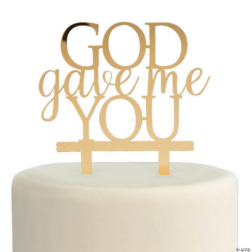 Gold God Gave Me You Cake Topper Image Thumbnail