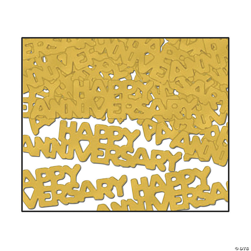 Gold Happy Anniversary Confetti Audio Thumbnail