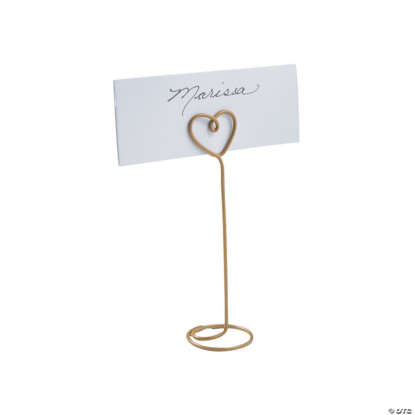 Gold Heart Wire Place Card Holders Audio Thumbnail