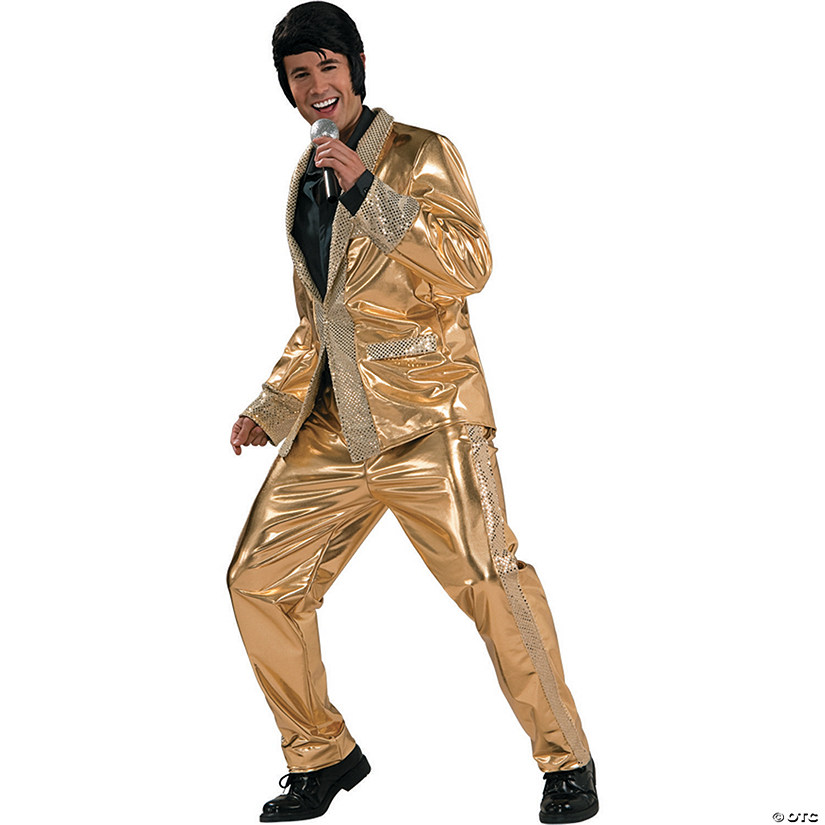 Gold Lamé Suit Grand Heritage Halloween Costume for Men