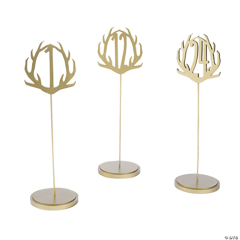 Gold Metallic Antler Table Numbers Audio Thumbnail