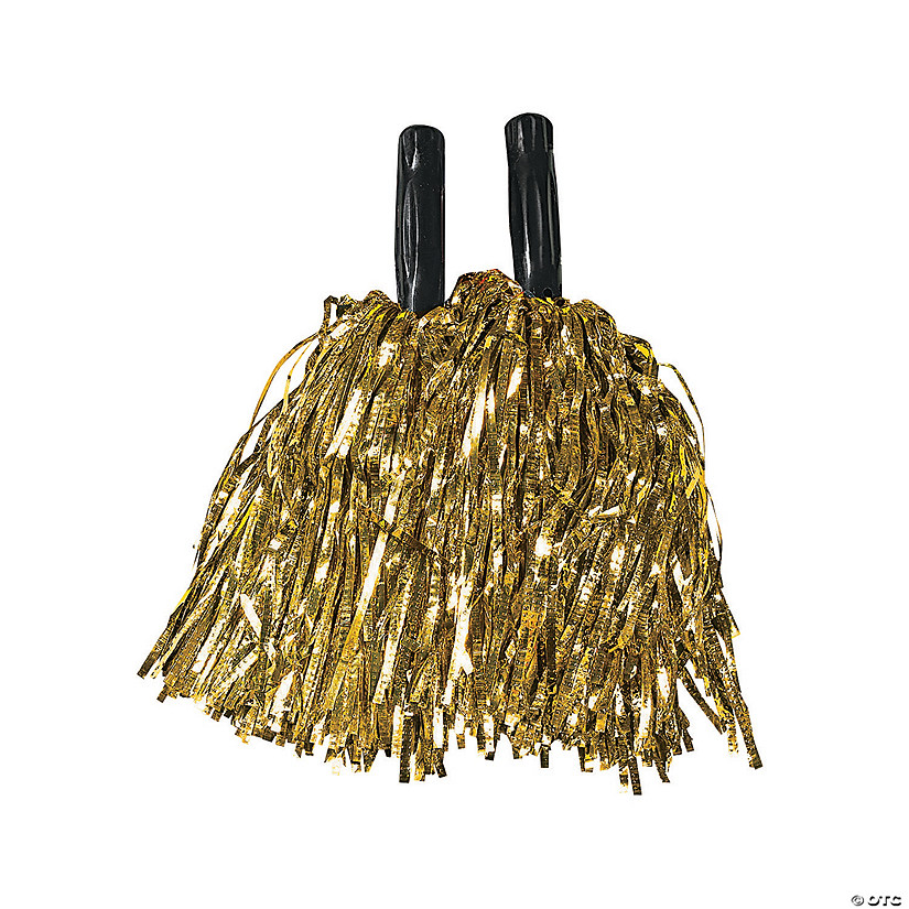 Gold Metallic Cheer Pom-Poms - 12 Pc. Image Thumbnail