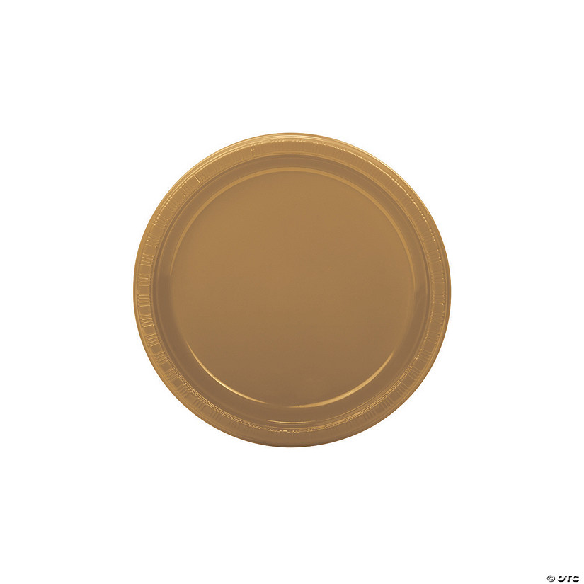 Gold Plastic Dessert Plates - 50 Pc. Audio Thumbnail